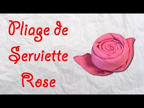 Origami Pliage De Serviette Rose Serviette En Forme De