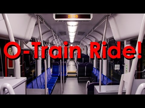 My First Ride on the Ottawa O-Train! (June 19th, 2015 - Full HD)