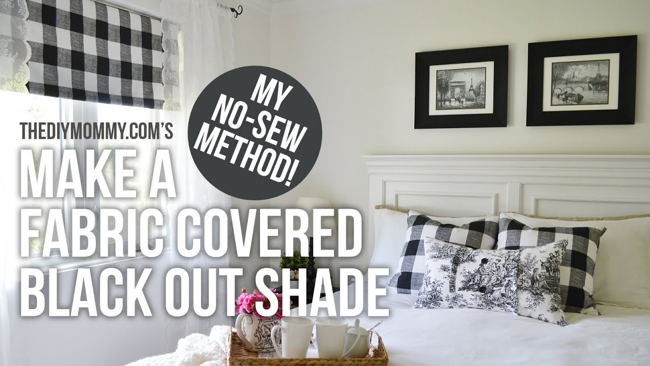 How to make a fabric covered black out shade our guest cottage how to make a fabric covered black out shade our guest cottage bedroom reveal youtube solutioingenieria Images