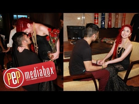 Yeng Constantino's boyfriend surprises her with flowers at the Star Magic Ball 2013 Travel Video