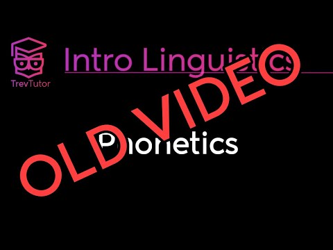 [Introduction to Linguistics] (OLD) Vowels - Production and Transcription