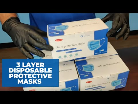 3 Layer Disposable Protective Masks Case