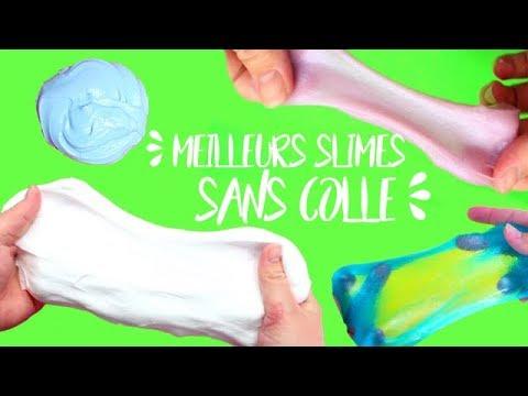 4 Recettes De Slime Sans Colle Qui Marchent Vraiment┃Top 4 Slimes Sans Colle┃Reva Ytb