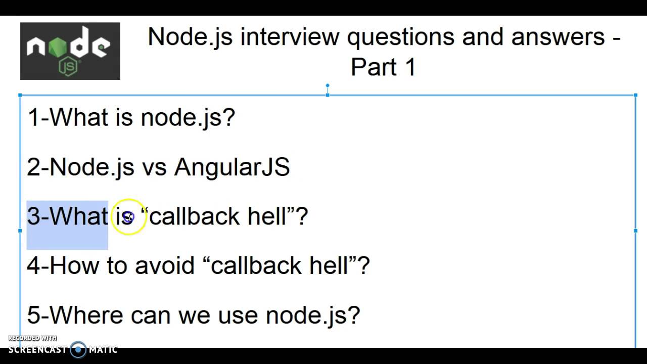 Exceptional Node.js Interview Questions And Answers   Part 1