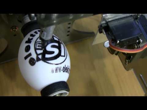 elektronik.si EggBot - Drawing first egg on workshop