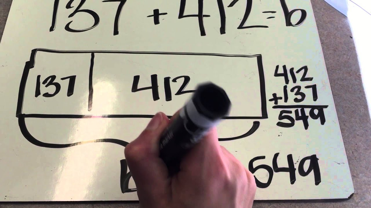 hight resolution of addition and subtraction tape diagrams