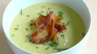 Easy Tasty Soup Recipe Leek Onion Potato How To Cook