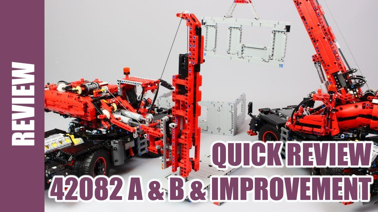 Lego Technic 42082 A And B Quick Review And Improvement Youtube