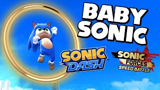 BABY SONIC  llega a SONIC DASH y SONIC FORCES: SPEED BATTLE!