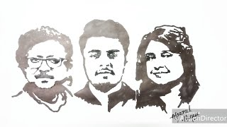 Family Sketch of Raj Barman by Afsanul Houqe