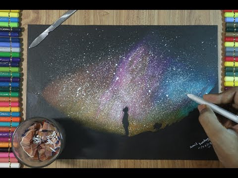 how-to-draw-galaxy-with-colored-pencils