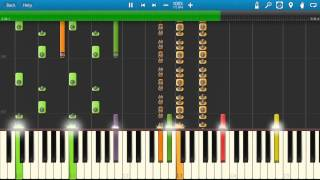 Repeat youtube video Lou Bega - Mambo No 5 - Piano Tutorial - Synthesia - How To Play