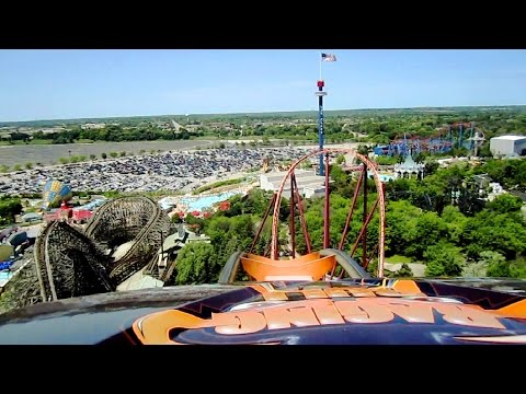 Raging Bull front seat on-ride HD POV Six Flags Great America