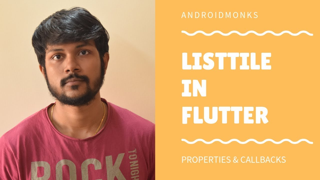 ListTile Widget in Flutter | Androidmonks - Android Monks