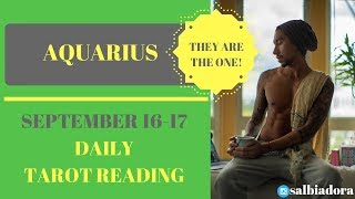 "AQUARIUS - ""HERE IS THE PERSON YOU'RE MEANT TO BE WITH!"" SEPTEMBER 16-17 DAILY TAROT READING"