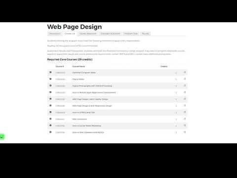 Web Page Design Program at Riverland Community College