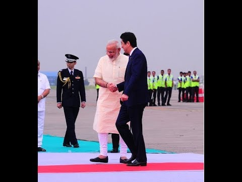 Ahmedabad rolls out red carpet for Japanese PM Shinzo Abe and PM Modi