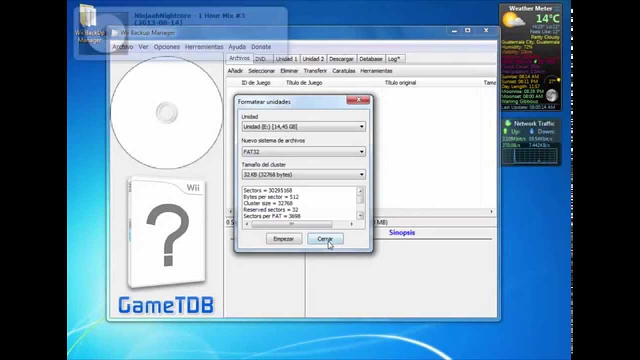 [TUTORIAL] Formatear a FAT32, NTFS o WBFS con Wii Backup Manager