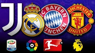 Clubs With The Most League Titles in The World II Top 15 Leagues II