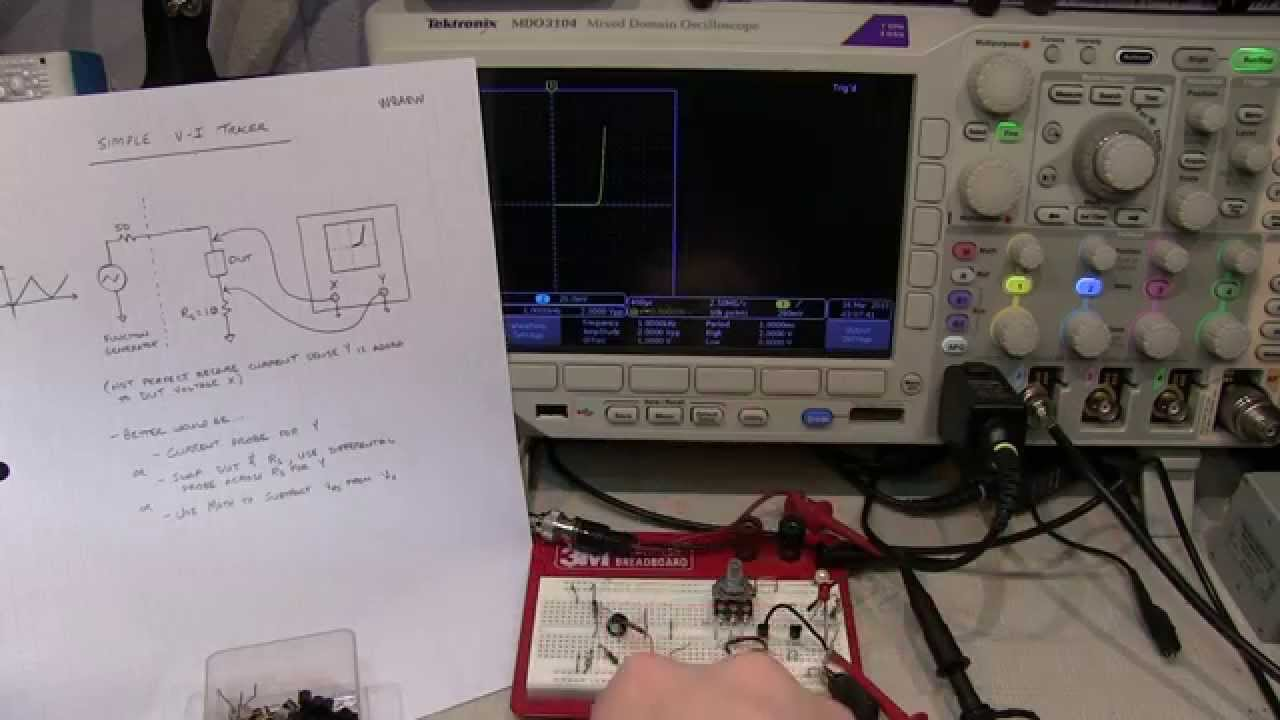197simple V I Curve Tracer Using An Oscilloscope And Function Generator Circuit Diagram Pictures Youtube