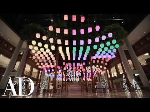 Meghan Trainor Unveils a Dazzling Holiday Light Installation by Rockwell Group