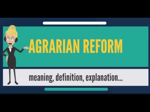 What is AGRARIAN REFORM? What does AGRARIAN REFORM mean? AGRARIAN REFORM meaning & explanation