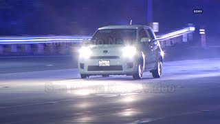 CHP uses spike strips and PIT maneuver to safely end police chase, El Cajon (San Diego)