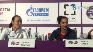 St. Petersburg Ladies Trophy. Martina Hingis and Sania Mirza