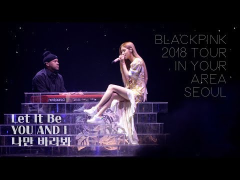 181111 BLACKPINK ROSÉ 로제 IN YOUR AREA Seoul (Day2) 직캠 -  Let It Be + YOU AND I + 나만 바라봐 (Solo Stage)