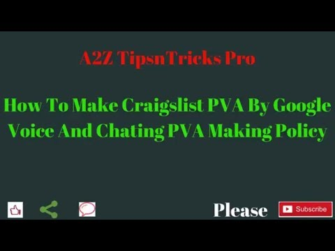 how to make pva by google voice number for craigslist w4m section 2018 from YouTube · Duration:  14 minutes 45 seconds