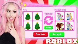 I ONLY Traded Christmas Eggs In Adopt Me And This Happened... Roblox Adopt Me Trading