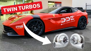 MAJOR TWIN TURBO FERRARI F12 UPDATE!