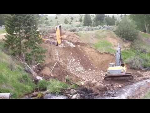 Road building in mining country 1