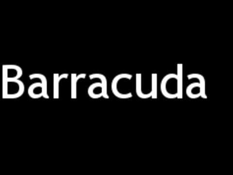 How to Pronounce Barracuda