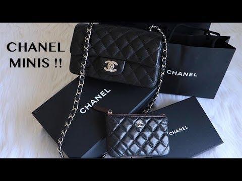 CHANEL MINI HAUL !! CHANEL RECTANGLE MINI & CHANEL O CASE MINI