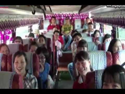 Tour sinh thai Pha Tam Giang - P2 - Vui chơi trên xe - tamgiangecotour.wmv