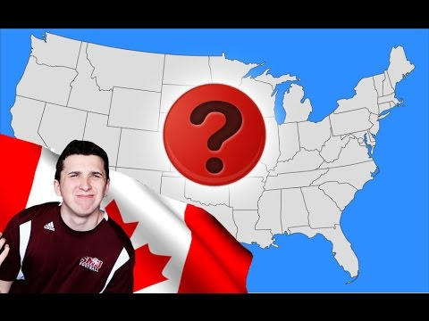 Can A Canadian Name All 50 USA States? USA QUIZ