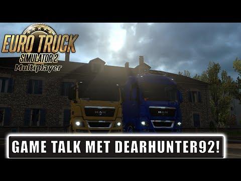 """GAME TALK MET DEARHUNTER92!"" EuroTruckSimulator 2 Multiplayer France DLC"