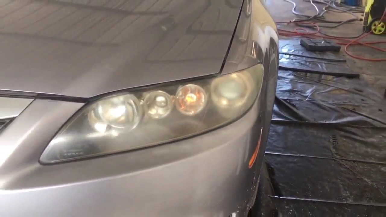 2007 mazda 6 headlight restoration austin llc [ 1280 x 720 Pixel ]