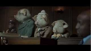 The 3 little pigs and the big bad wolf story.