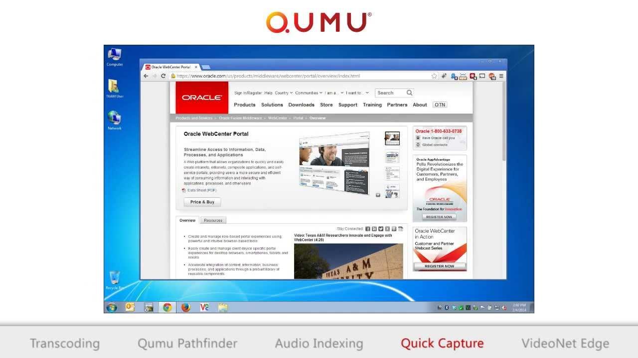 WebCenter Portal and Qumu Video Control Center Demonstration by ...