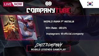 Mobile Legends Limit.Company Live Streaming 8/19 Push Solo Rank