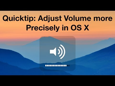 Quicktip: Adjust Volume more Precisely in OS X
