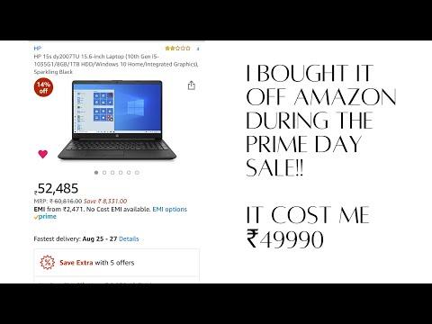 HP Dy2077tu unboxing|| Amazon Prime Sale