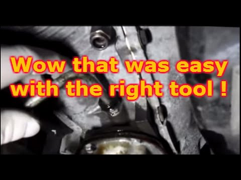 How To Remove The Transmission Line On A Cadillac Youtube