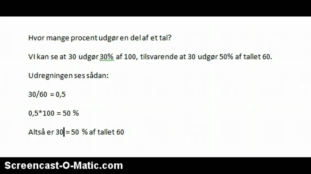 procent af et tal