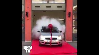 Ces pompiers de Lyon ont offert une nouvelle voiture à leur agent d'entretien, victime d'une arnaque