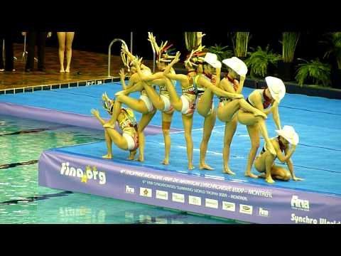 Team Canada Synchronized Swimming Montreal November 2009