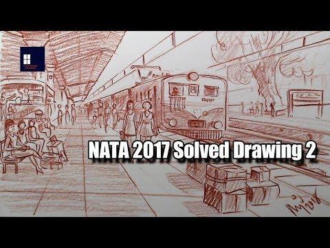 NATA 2017 Solved Drawing 2