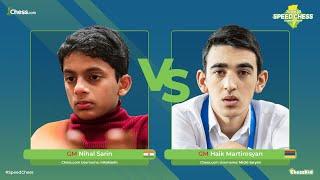 GM Nihal vs GM Martirosyan   Junior Speed Chess Championship